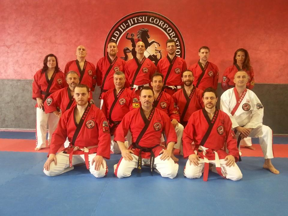 Soke Adriano Busà Founder of the World Ju-Jitsu Corporation and his Black Belts